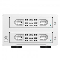 ORICO 3529RUS3 Aluminum 3.5 inch SATA USB3.0 & eSATA External Multi Bay HDD Enclosure on the Desktop