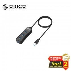 ORICO W5PH4-3S 4 Port USB3.0 Ultra-Mini HUB Built-in 3.3Ft USB3.0 Cable - Black