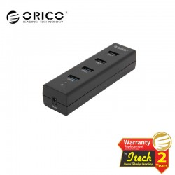 ORICO H4013-U3-BK 4 Port Portable USB 3.0 HUB for Ultra Book/Desktop/Laptop/Tablet PC - Black