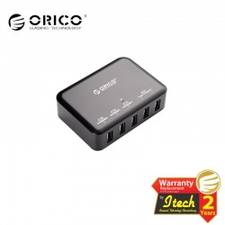 ORICO DCAP-5S 40W 5 Port Family Size Desktop USB Wall Charger Power Charging Station HUB with Power Cord
