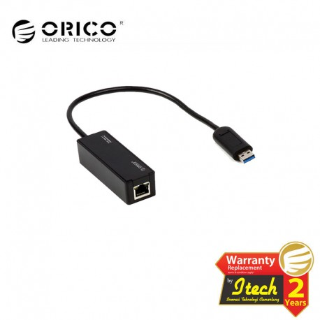 ORICO UTR-U3 BK Portable USB 3.0 to 10/100/1000M Ethernet Adapter