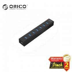 ORICO H727RK-U3-BK 7 Port USB3.0 HUB with Premium 12V/2.5A Power Adapter (Black)