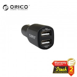 ORICO UCA-2U 2 Port Dual-Port Universal USB Car Charger For Mobile Phones and Other USB-powered Devices - Black