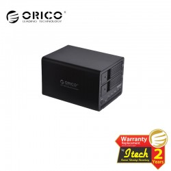 ORICO 9528RU3 BK, 2 bay 3.5'' HDD RAID enlcosure, USB3.0 HDD enclosure