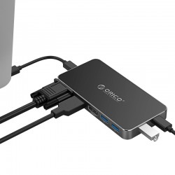 ORICO 8in1 Type-C Multifunction VGA HDMI DP USB3.0 USB-C PD - XC-306