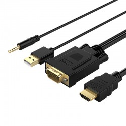 ORICO VGA to HDMI Adapter With Audio and USB Power Cable - XD-VATH-10