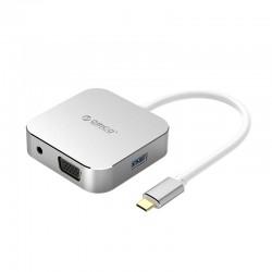 ORICO XD-312-SV-BP Type-C to HDMI+USB3.0+VGA+Audio Docking Station