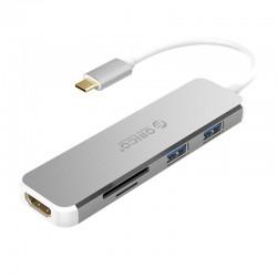 ORICO XD-315-SV-BP Type-C to HDMI + USB3.0 + TF + SD Docking Station