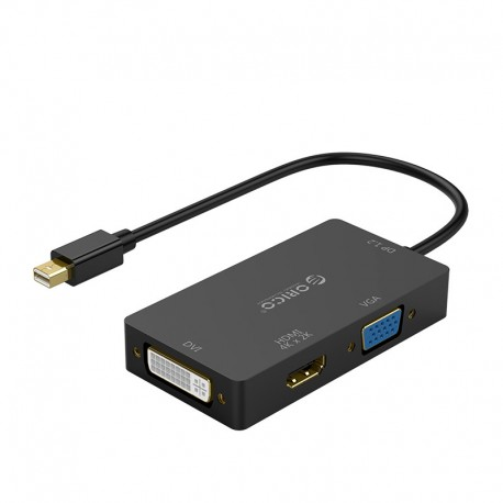 ORICO XD-MDFHDV4-BK-BP Mini DP to HDMI/VGA/DVI HD Video Adapter