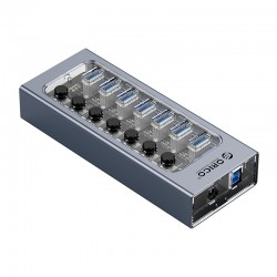 ORICO AT2U3-7AB Multi-Port Hub With Individual Switches